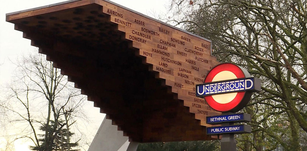 Bethnal Green 'Stairway to Heaven' Memorial